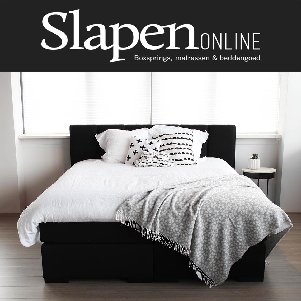 Boxspring zwart bij Slapen Online