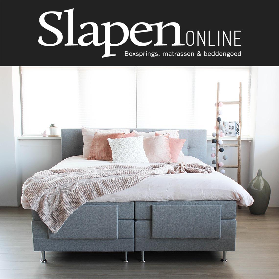 Goedkope grijze boxspring bij Slapen Online