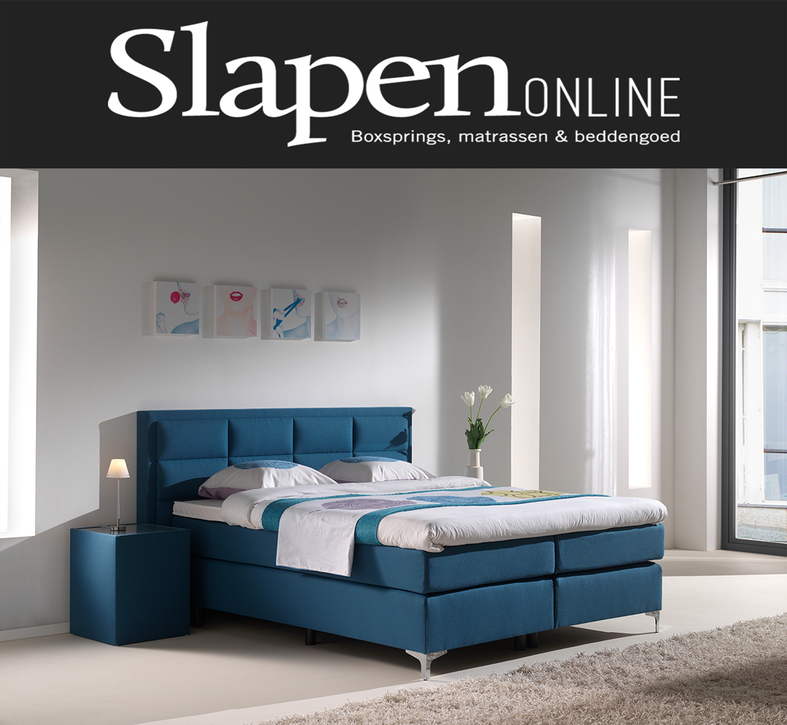 Boxspring blauw bij Slapen Online