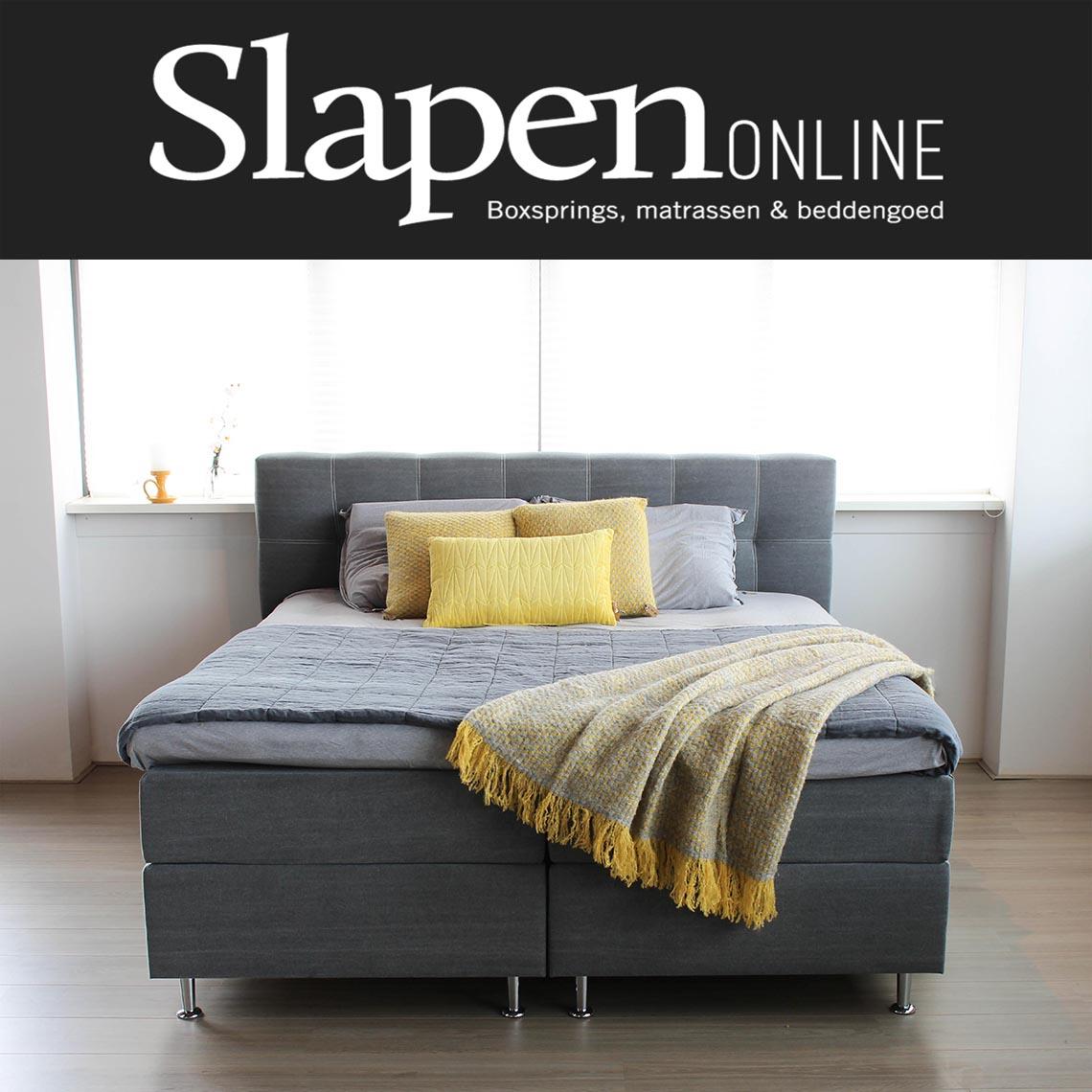 boxspring bed 160x200 bij slapen online slapen online. Black Bedroom Furniture Sets. Home Design Ideas