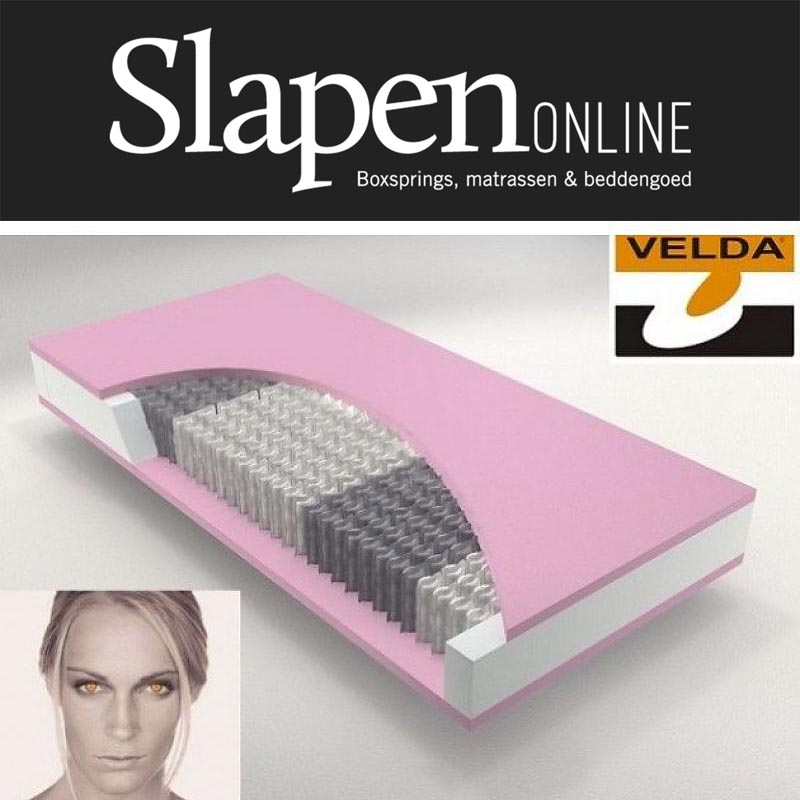 Velda pocketspring 300 visco firm van Slapen Online