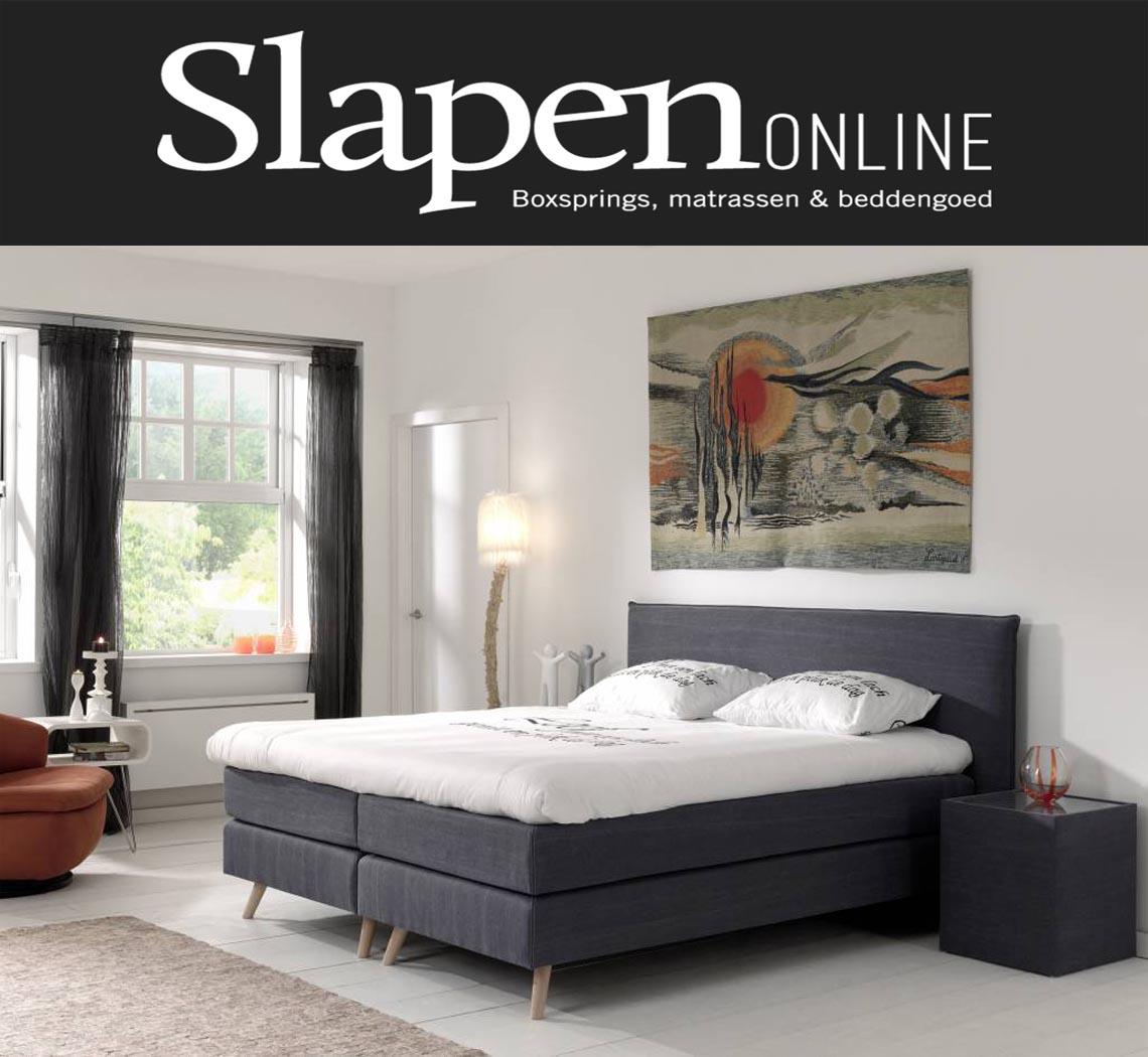 boxspring 120x200 grijs slapen online slapen online. Black Bedroom Furniture Sets. Home Design Ideas