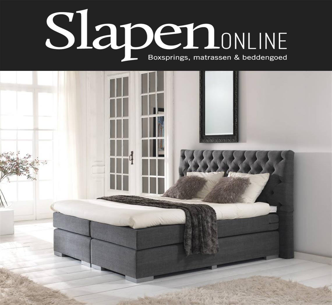 boxspring 180x200 grijs boxsprings. Black Bedroom Furniture Sets. Home Design Ideas