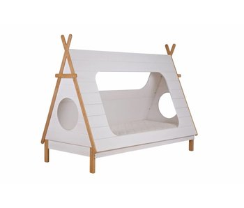 Woood Tipi bed 90x200 incl lattenbodem