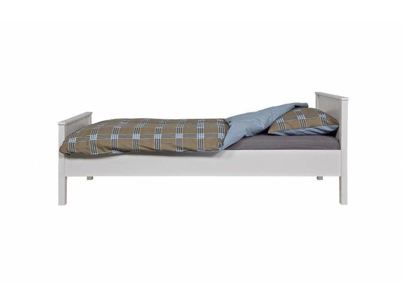 Woood Jade bed wit ongeborsteld