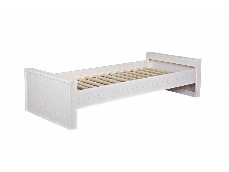 Woood Robin bed 90x200 grenen wit geborsteld