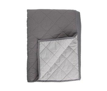 Kaat Amsterdam Plaid Basic Bedspread Grey