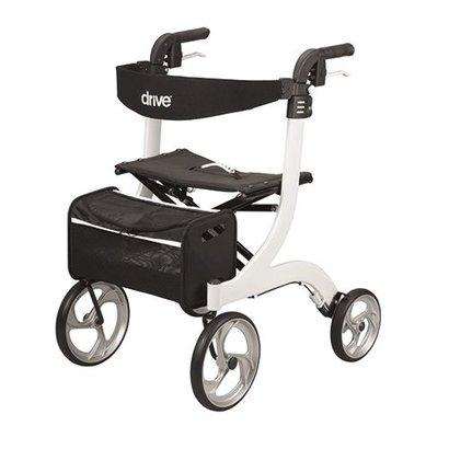 Drive Medical  Design Rollator Drive Nitro lichtgewicht opvouwbaar | Parelmoer wit