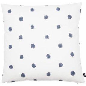 EightMood Kissen FARAH blau weiß Punkte
