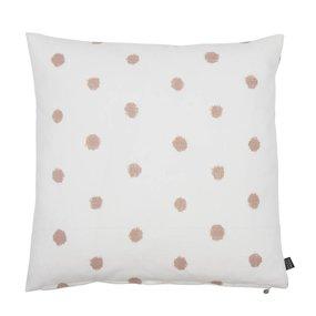Kissen Farah 50x50 cm weiß/pink Punkte