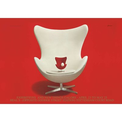 Poster Egg Chair 50x70 cm