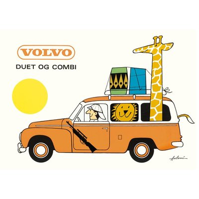 IB Antoni Postkarte Volvo Kombi A6