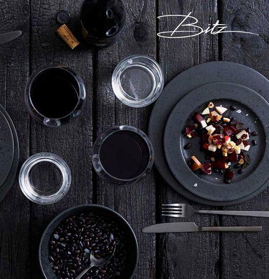 bitz teller 22 cm schwarz lille lys interieur home staging lifestyle. Black Bedroom Furniture Sets. Home Design Ideas