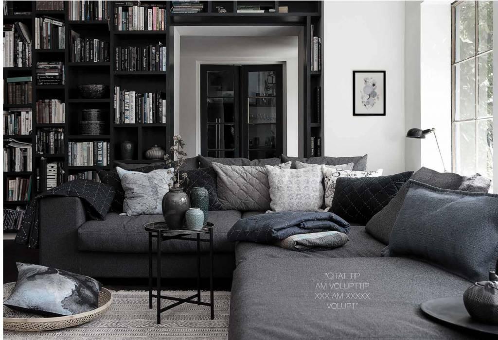a simple mess by louise dorph kissenh lle maja grau 45x45cm lille lys interieur home. Black Bedroom Furniture Sets. Home Design Ideas