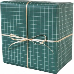 Geschenkpapier grün/weiß kariert