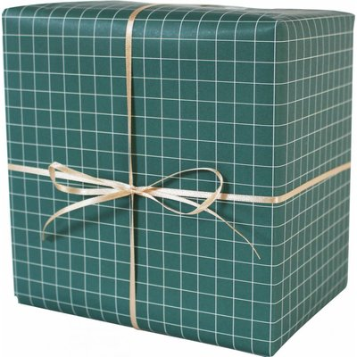 ava&yves Geschenkpapier grün/weiß kariert