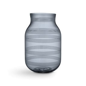 KÄHLER Glasvase stahlblau h 28 cm