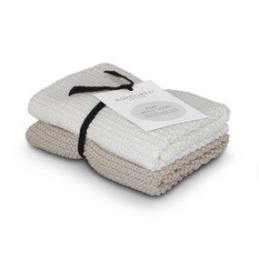 Abwaschtuch 2er Set sand 100% Baumwolle