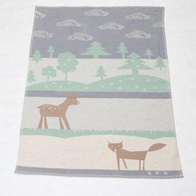 David Fussenegger Textil Babydecke Lena grau