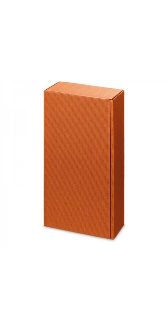 Weinpräsentkarton 2 Flaschen Welle Orange