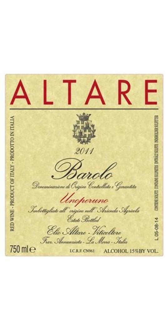 Elio Altare Elio Altare, Barolo docg Unoperuno 2012