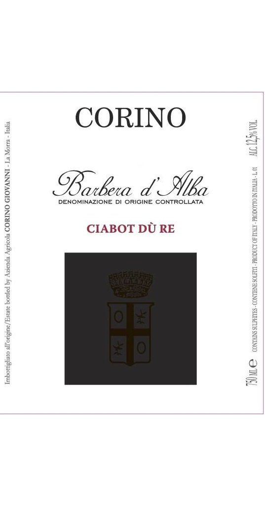 Corino Corino, Barbera d´Alba doc Ciabot dù Re 2014