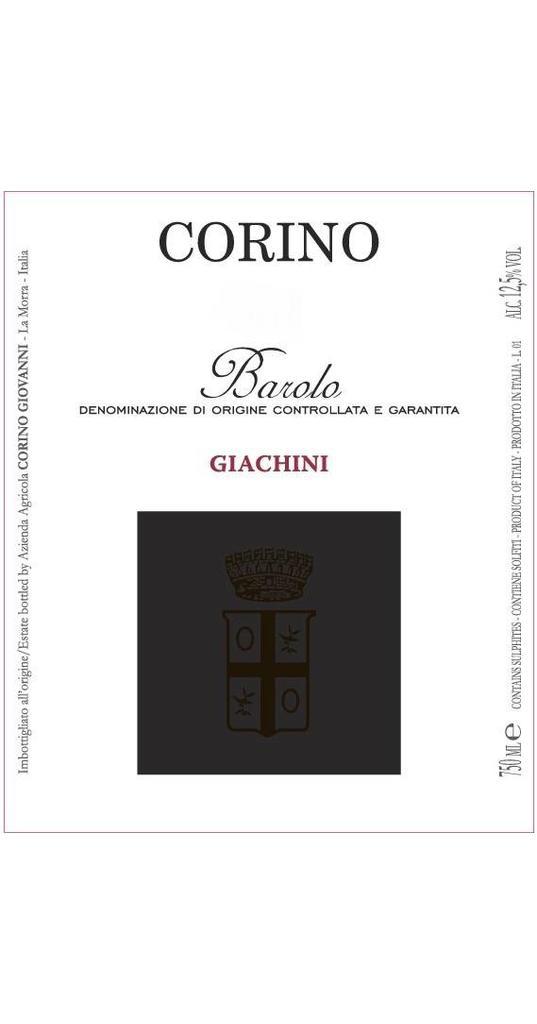 Corino Corino, Barolo docg Giachini 2012