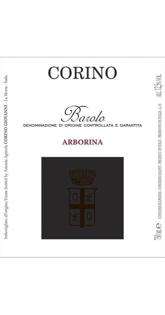 Corino Corino, Barolo docg Arborina 2012