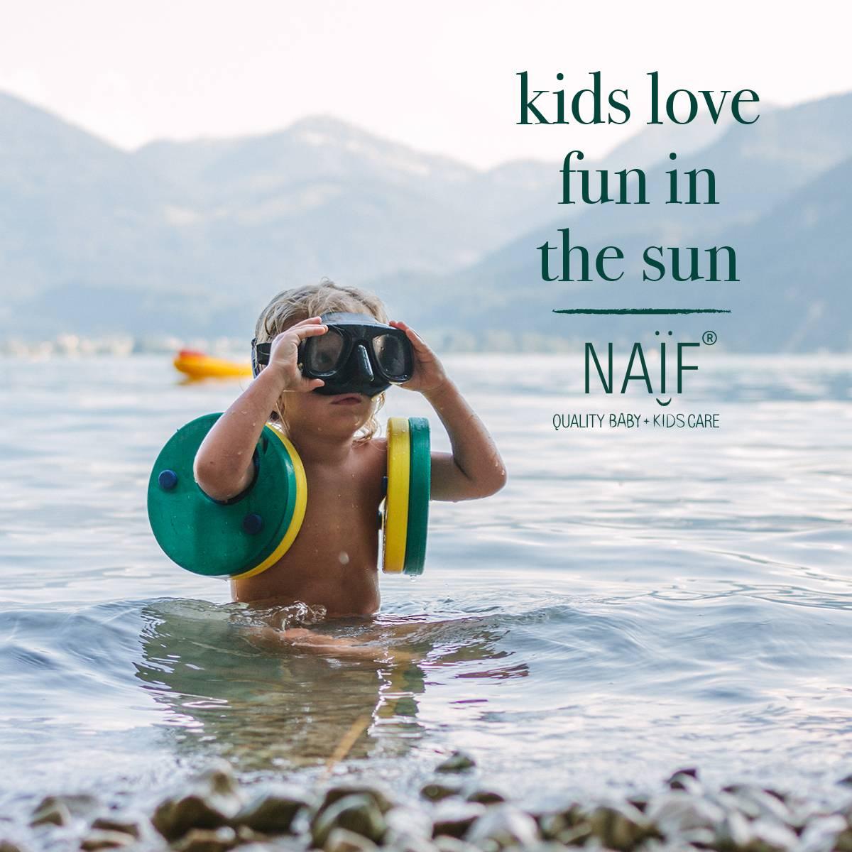 Nieuw van Naïf: zonnebrandcrème voor jouw baby