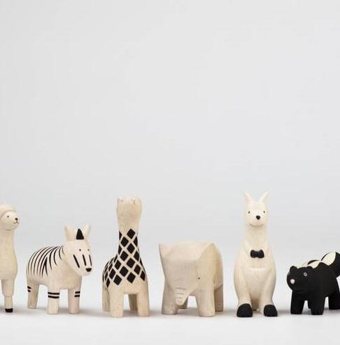 NIEUW: houten dieren uit Japan