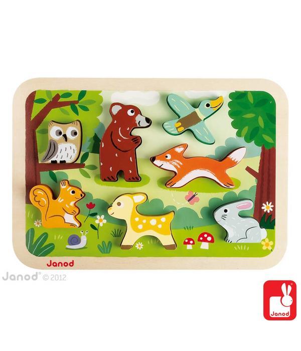 Janod Janod - Chunky puzzel bosdieren