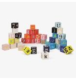 Janod Janod - Kubix blokken 40-delig cijfers en letters