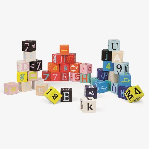Janod - Kubix blokken 40-delig cijfers en letters