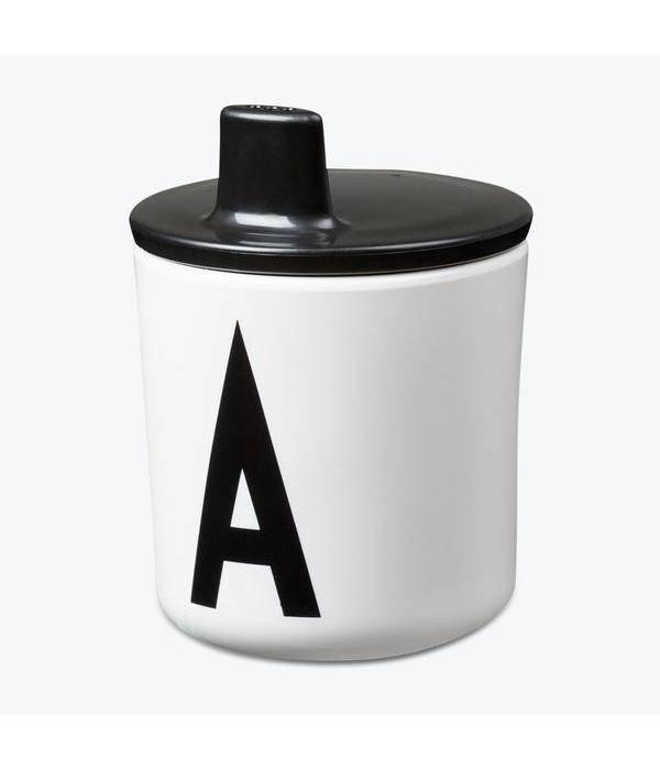 Design Letters DESIGN LETTERS - Tuit deksel voor beker - zwart