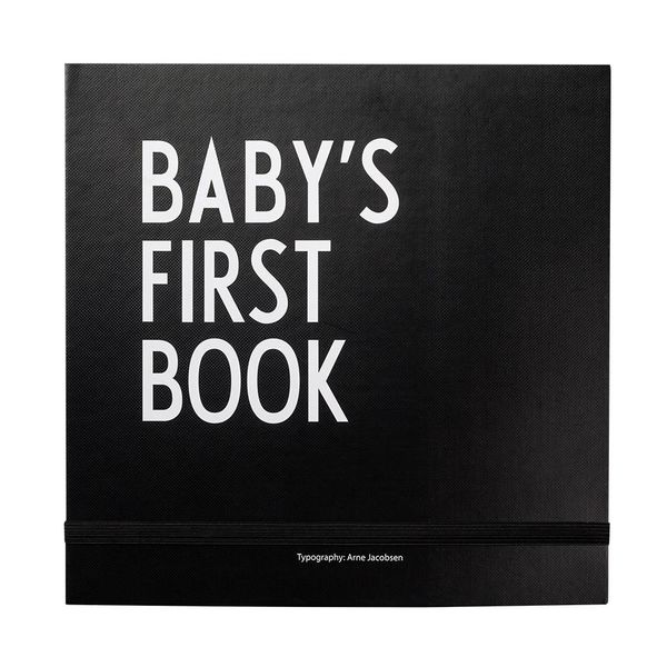 DESIGN LETTERS - Baby's first book - zwart