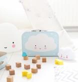 A Little Lovely Company A LITTLE LOVELY COMPANY - Mini lamp wolk wit