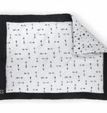 Jollein JOLLEIN - Boxkleed zwart wit Indians 80x100