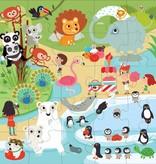 Mudpuppy Mudpuppy - Jumbo puzzel 25 stukjes - Dierentuin