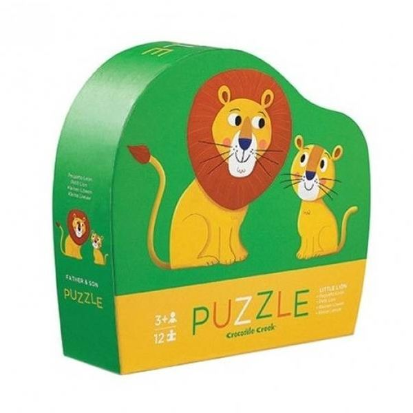 Crocodile Creek - Mini puzzel 12 stukjes - Leeuw