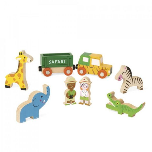 Janod- Storybox mini Safari 8-delige speelset