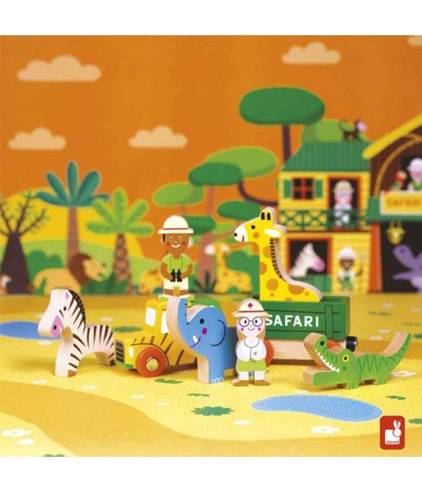 Janod Janod- Storybox mini Safari 8-delige speelset
