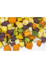 Chips de verduras en cubitos
