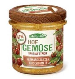 Allos Hof Gemüse Brotaufstrich Reinhards Rucola Kirschtomate