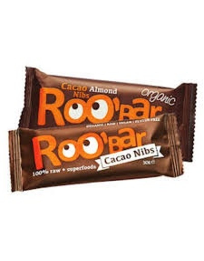 Roo´bar Cacao Nibs & Almonds Riegel