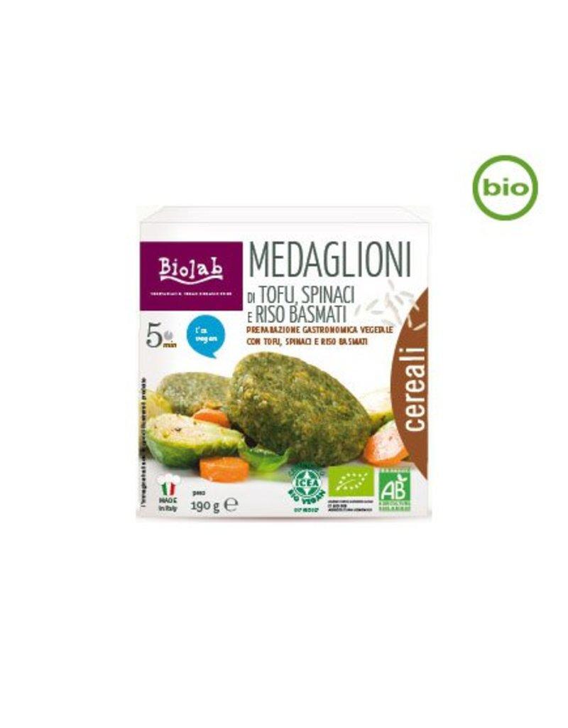 Biolab Medaglioni di Tofu, Spinaci e Riso