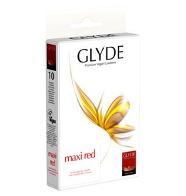 GLYDE Ultra Maxi Red 10 große rote vegane Condome