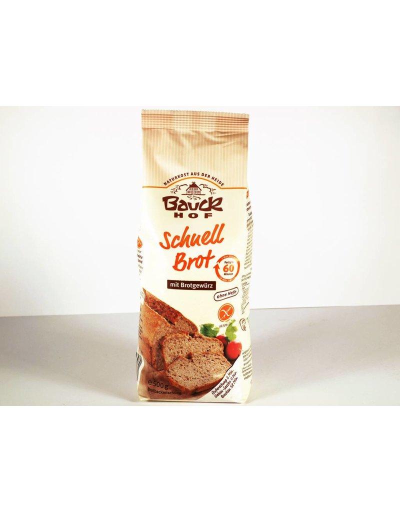 Bauckhof Schnellbrot mit Brotgewürz, glutenfrei