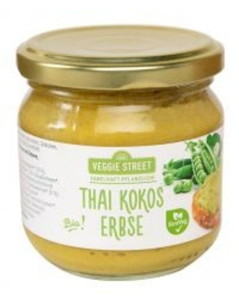 Veggie Street Streichcreme im Glas Thai Kokos Erbse