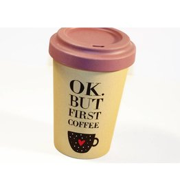 "BambooCup Bamboo Cup ""but first coffee"""