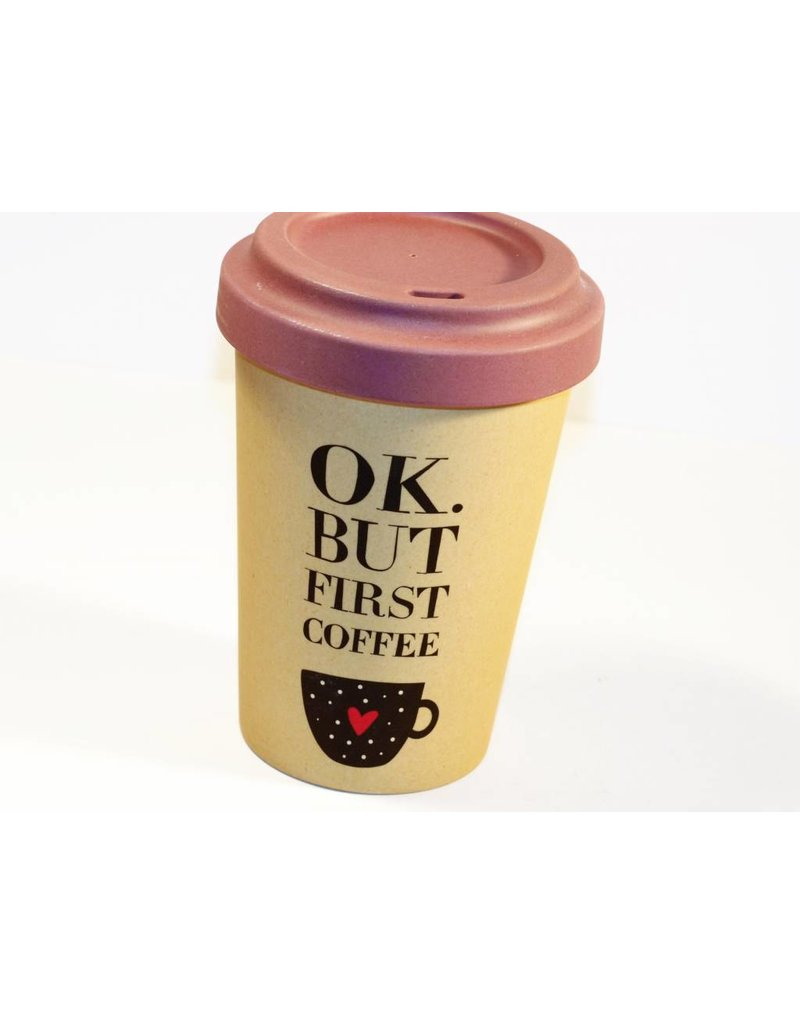 "BambooCup Bamoo Cup ""but first coffee"" wiederverwendbarer Coffee-to-go Becher"
